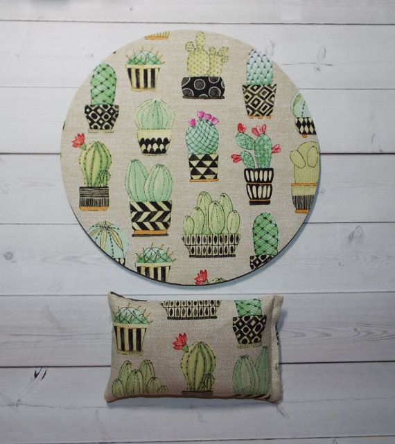 succulents cactus mouse pad  mousepad  mat  wrist rest by Laa766  chic / cute / preppy / computer, desk accessories / cubical, office, home decor / co-worker, student gift / patterned design / match with coasters, wrist rests / computers and peripherals / feminine touches for the office / desk decor