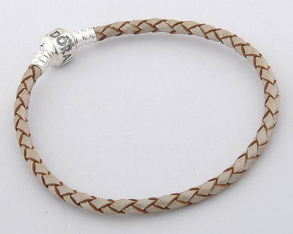 Pandora rope bracelet in champagne