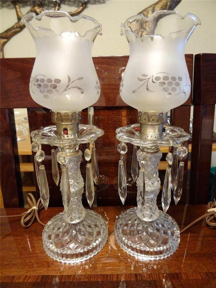 Bohemian Hurricane Lamps Antique Bohemian Electric