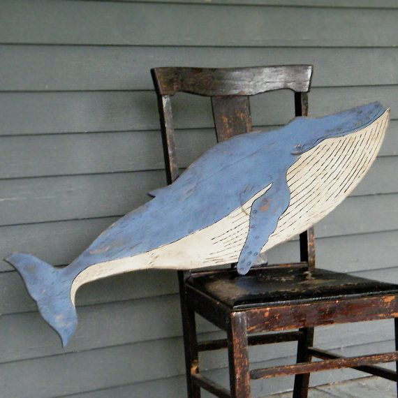We have a real luv for Whales around here ever since a vacation to Nantucket. Here is my tribute to the sometimes elusive, but always impressive Humpback Whale, a grand giant of the sea. Size: 13 H x 42 W x .5 D Colors Shown: Coastal Blue top, Biscuit Cream bottom -- See color chart in the last photo. Even though my current location is quite a distance from any ocean waters where they are sighting them these days, I am always fascinated by them on the news. And in a recent sighting in…