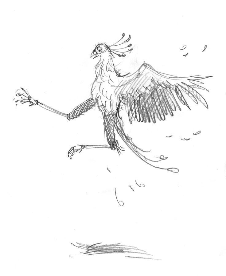 full body pencil character sketch for Leonard doing ninja kick come dance error. #leonarddoesntdance #bird #secretarybird #picturebook #charactersketch #franceswatts