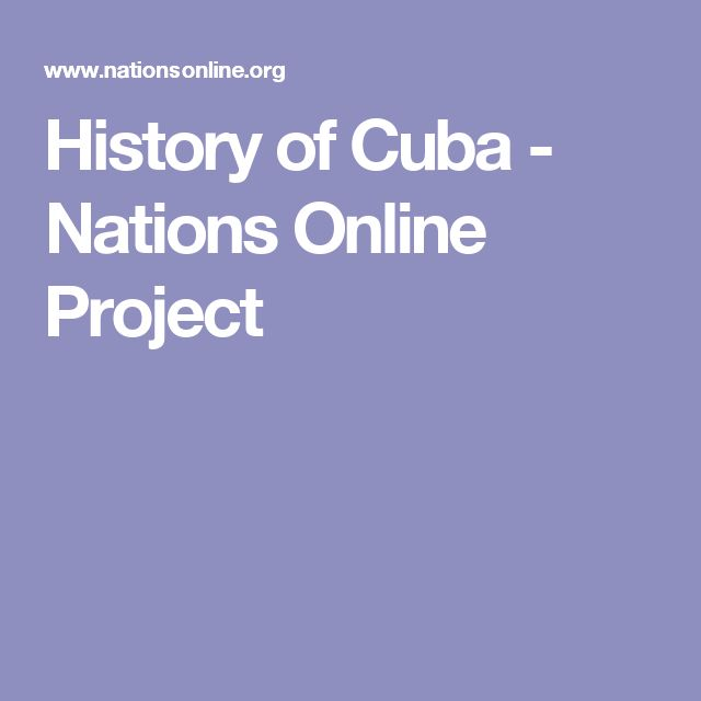 History of Cuba - Nations Online Project