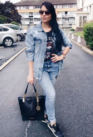 Look by @cata_1796 with #sneakers #primark #jeans #denim #newbalance #michaelkors #stradivarius #jackets #bags #ca #jewelry #lookoftheday #totaljeans #denimjackets #blacksneakers #travail #rockingsneakers #blackbags #trabalhandofashion #darkbluejeans #darkbluejackets #stradivariusjackets #cajeans #primarkjewelry #beigejewelry.