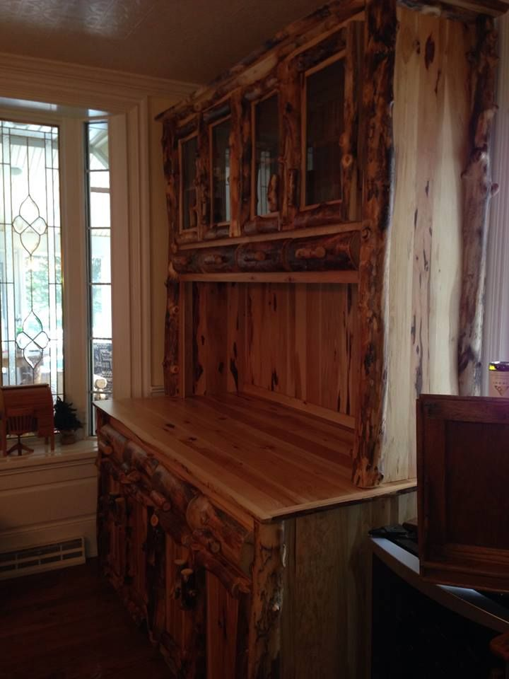 log rustic furniture amish. Aspen Log Double Hutch(814) 257-8911 Or Facebook At Rustic Furniture Amish