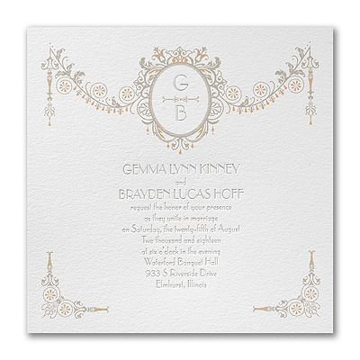 This White, Triple Thick Paper Wedding Invitation With Foil Accents  Introduces Your Big Day In A Way Thatu0027s Totally You.