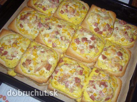 Fotorecept: Zapečené tousty SUROVINY NA 4 PORCIE: 1 balíček toastový chlieb 1/2…