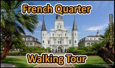 Our free French Quarter walking tour map in New Orleans. Printable do it yourself guided tour of the best sights to see and things to do while walking around Jackson Square and Bourbon Street in New Orleans Louisiana's French Quarter.
