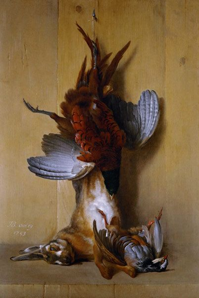 Still Life with a Hare, a Pheasant and a Red Partridge - Jean-Baptiste Oudry