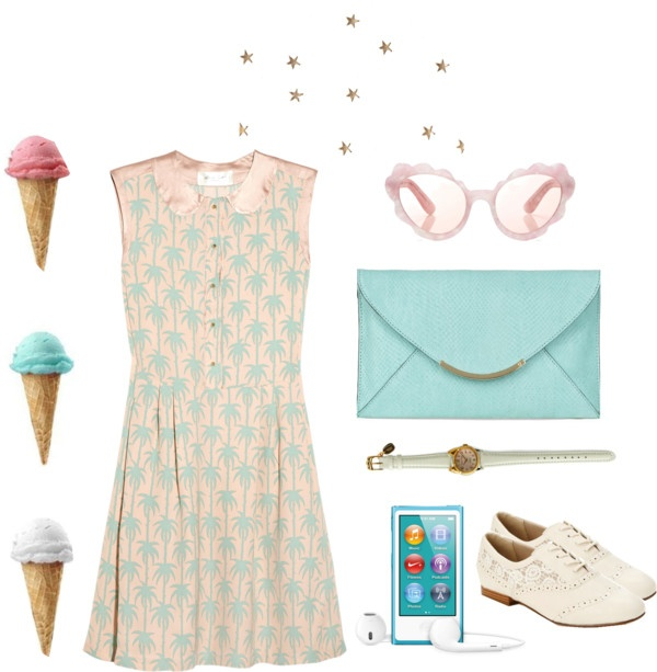 """past-el"" by brendazhuo on Polyvore"