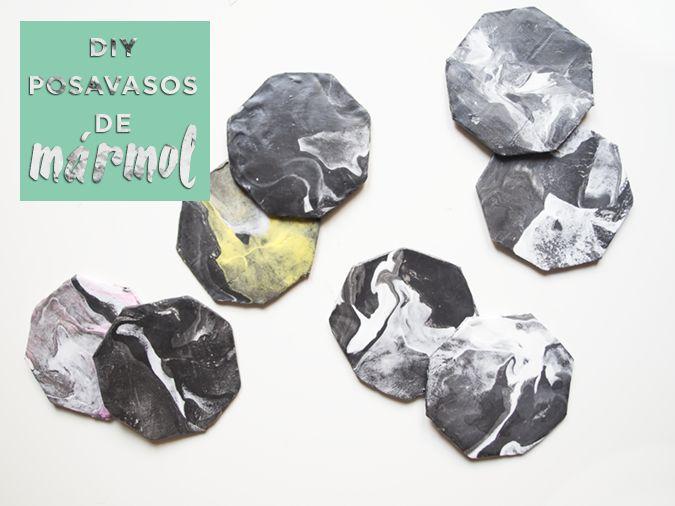 Diy: posavasos de mármol