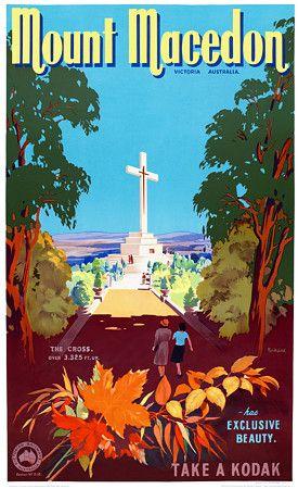 Mt. Macedon, Victoria, Australia by James Northfield c.1930s  http://www.vintagevenus.com.au/vintage/reprints/info/TV605.htm