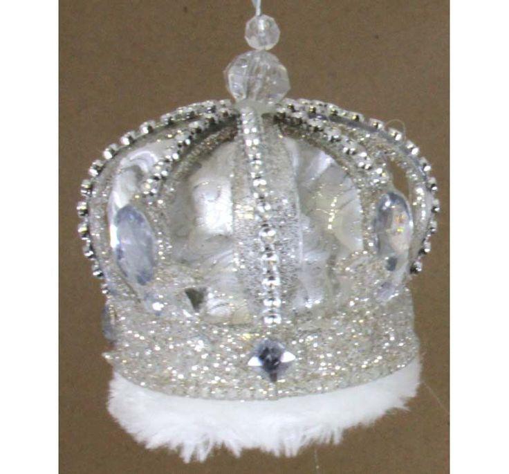 King Crown Ornament White
