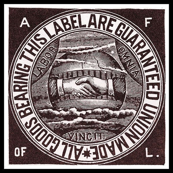 The American Federation of Labor (AFL) remains in history as the first federation of labor unions in the US.