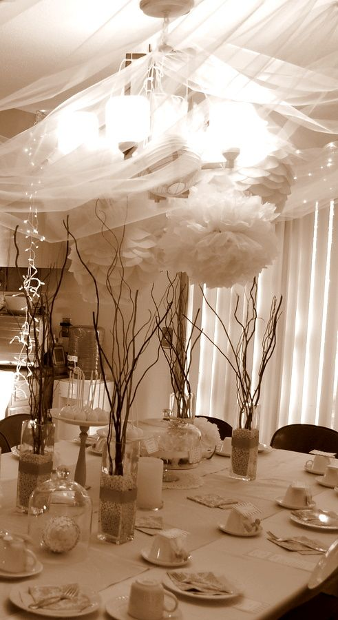 66 best hearts of gold gala images on pinterest shower for Formal dining table decorating ideas