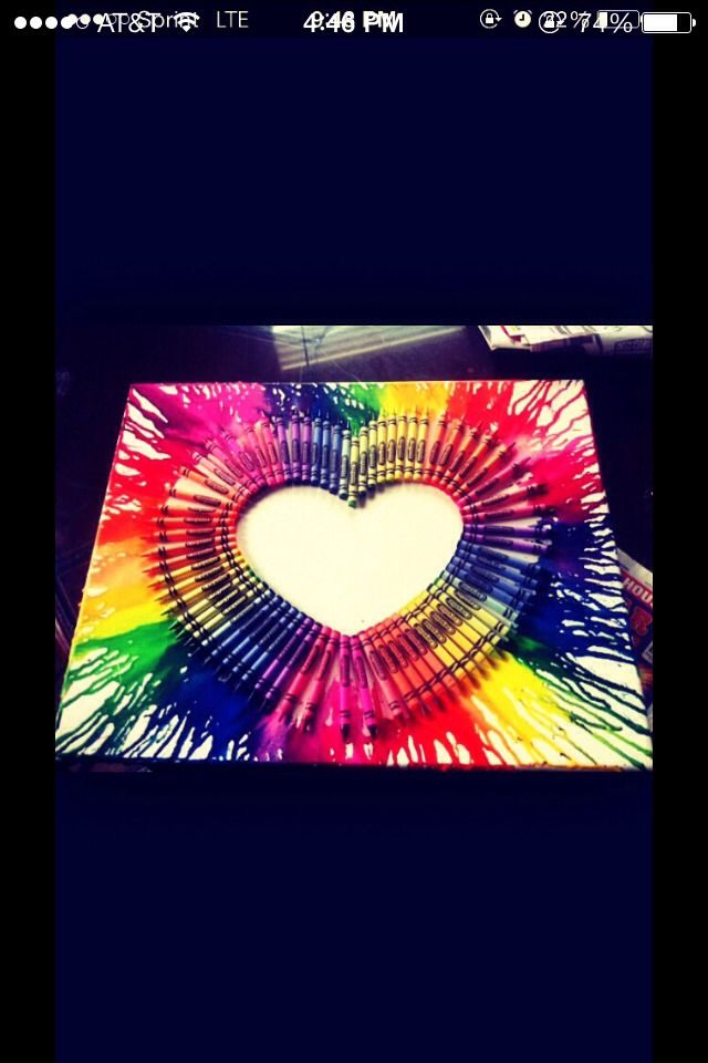Awesome Crayon Art!!! Next project
