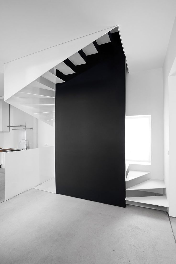 high contrast + floating stair Treppen Stairs Escaleras / #black #white