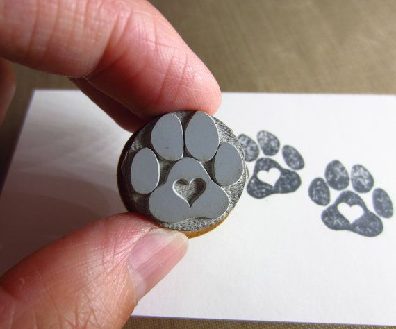 Love a Paw Rubber Stamp O014 por etchythings en Etsy                                                                                                                                                      Más