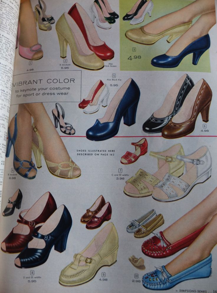 1950s shoe advertisements. For inspiration.