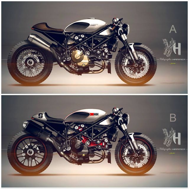 Ducati Cafe Racer Design 1098 Streetfighter by Holographic Hammer #motorcyclesdesign #diseñodemotos | caferacerpasion.com