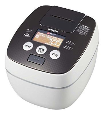 Tiger rice cooker one bushel pressure IH cool white cooked rice cooker JP... P/O