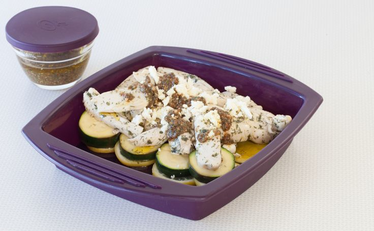 #Epicure 8 Minute El Greco Lemony Chicken and Zucchini