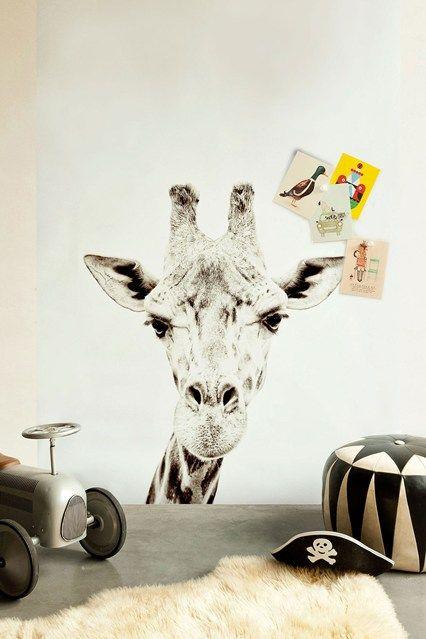Giraffe Magnetic Wallpaper - Kids' Bedroom Ideas - Childrens Room, Furniture, Decorating (houseandgarden.co.uk)