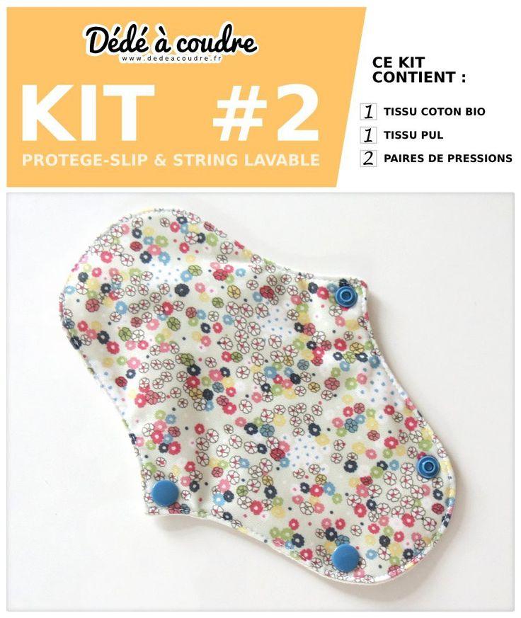 Kit de couture, protège-slips lavable