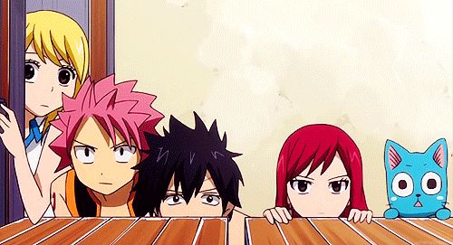 Fairy Tail Natsu Dragneel Gray Fullbuster Erza Scarlet fairy tail