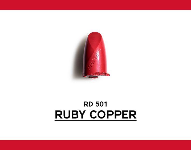 Rosso vivido, caldo, brillante Ispirato alla Cuprite, minerale ricco di rame. #ROUGEROUGE http://www.shiseido.it/rouge-rouge/