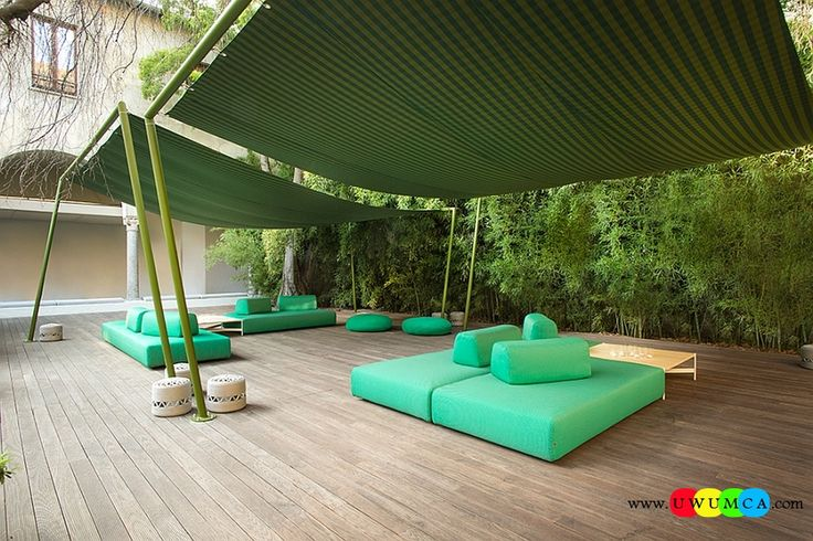 Outdoor / Gardening:Outdoor Design Trends 2014 Summer Furniture Decor Hot Tub Design Outdoor Sofa Chairs Cushions Table Ideas Backyard Lighting Landscape Simple Way To Add Shade To Your Patio Even While Staying Stylish Newest Hot Outdoor Design Trends For Summer 2014