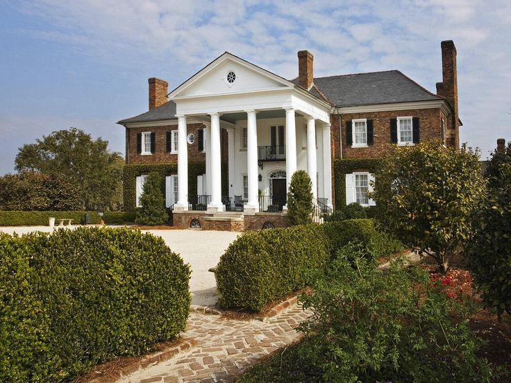 "Close up of Boone Plantation....This was the house that was featured in the Movie ""North and South."""
