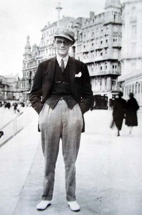 James Joyce at the Brighton Beach Esplanade, ca. 1907, (He was writing Dubliners at that time)