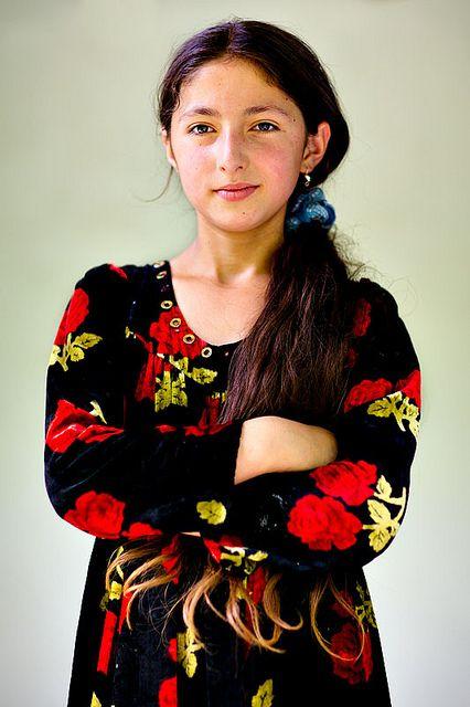 Pamiri Girl, Kevron, Gorno-Badakhshan, Tajikistan. The Pamiris are an Iranian ethnic group in the Gorno-Badakhshan Autonomous Region of eastern Tajikistan, the Badakhshan Province of northeastern Afghanistan, and the Chitral and Gilgit Baltistan regions of northern Pakistan.
