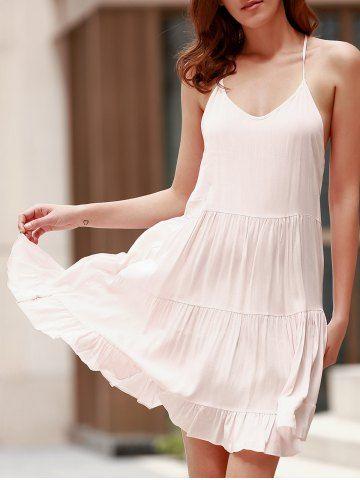 Cute Spaghetti Strap Backless Summer Dress For Women Summer Dresses | RoseGal.com