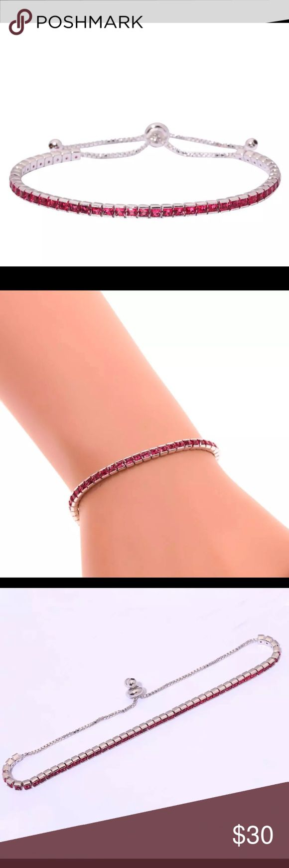 ❗️SALE❗️Kunzite CZ Silver adjustable bracelet Stunning!!! Kunzite CZ Silver Filled fashion adjustable chain bracelet Jewelry Bracelets