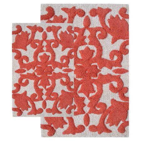 Best Master Bath Images On Pinterest Bathroom Ideas - Orange bath mat set for bathroom decorating ideas