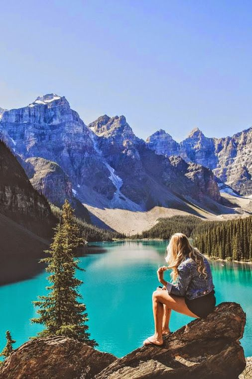 Moraine Lake is a glacially-fed lake in Banff National Park, 14 kilometres (8.7 mi) outside the Village of Lake Louise, Alberta, Canada. It is situated in the Valley of the Ten Peaks, at an elevation of approximately 6,183 feet (1,885 m). The lake has a surface area of .5 square kilometres (0.19 sq mi).