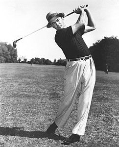 Golfer Sam Snead by Underwood Archives