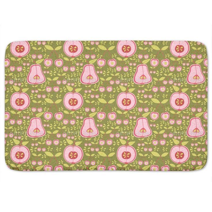 Uneekee Fruit Garden Pink Bath Mat