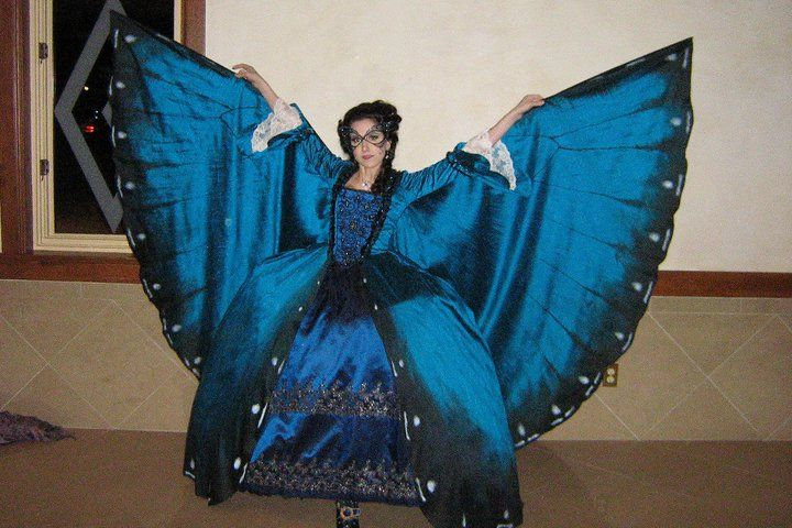 Morpho Butterfly gown