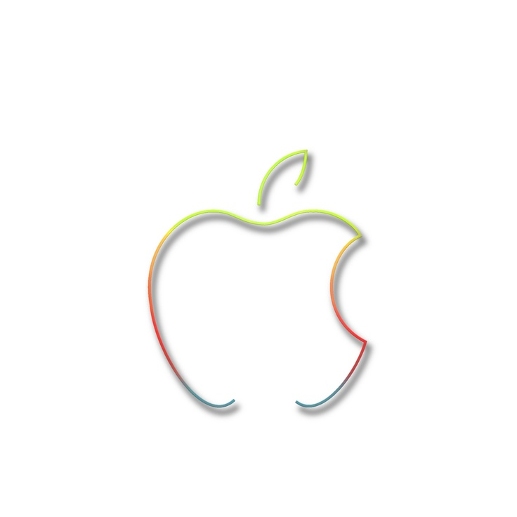 Apple Logo as a colorful silhouette rendering.