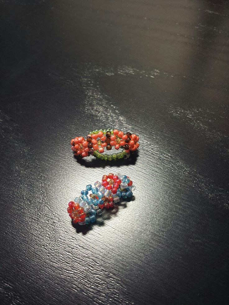 daisy seed bead ring