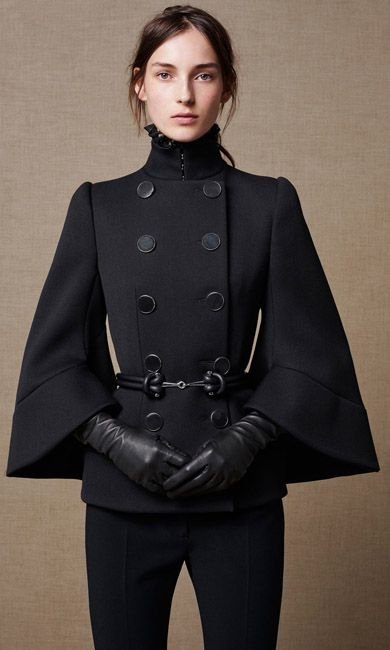 Petal Sleeve Double Breasted Jacket - Shop the Fashion Looks | Alexander McQueen