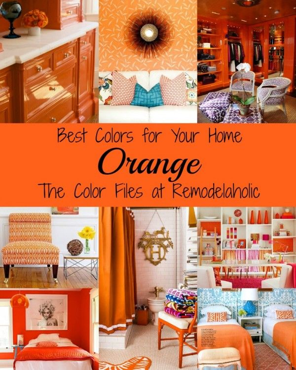 Go bold! Decorate with orange to infuse life into any space Remodelaholic.com #orange #color #design