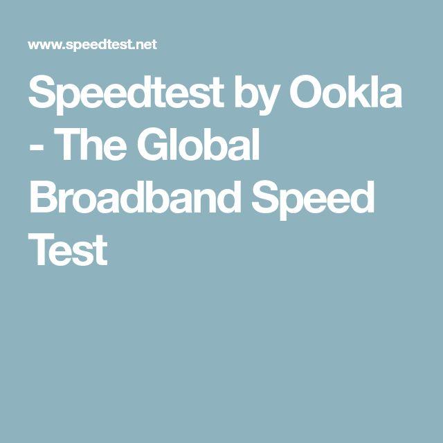 Speedtest by Ookla - The Global Broadband Speed Test