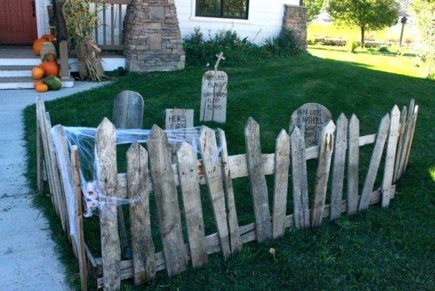 15 Gruselige Diy Halloween Dekorationen Fur Ihr Yard Deko Weihnachten Halloween Zaun Diy Halloween Dekoration Halloween Deko
