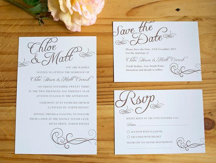 Wedding Invitation Rsvp Date: Invitation, Save The Date, RSVP