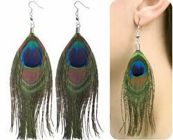 pure peacock feather earing.. only........RS,150