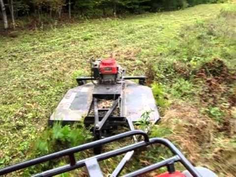 Pull Behind Mowers diy | Mowing field with ATV & rough cut mower