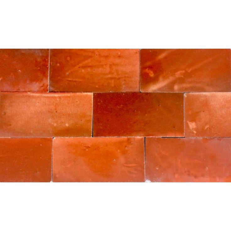 Zellige Tile Orange 15cm x 7.5cm